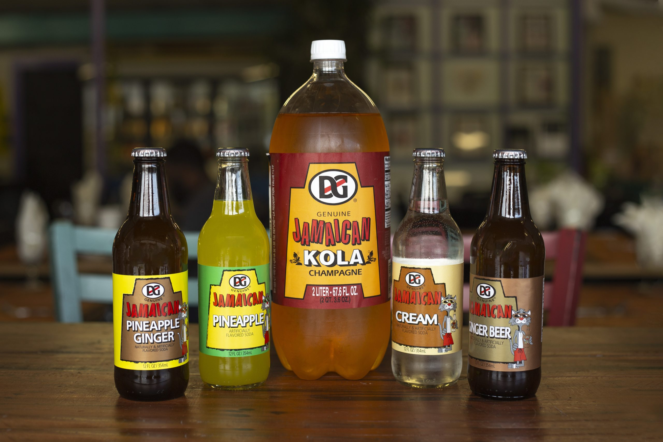 Island Flavors and Tings Gulfport FL Caribbean Grocery Island bottled drinks shown