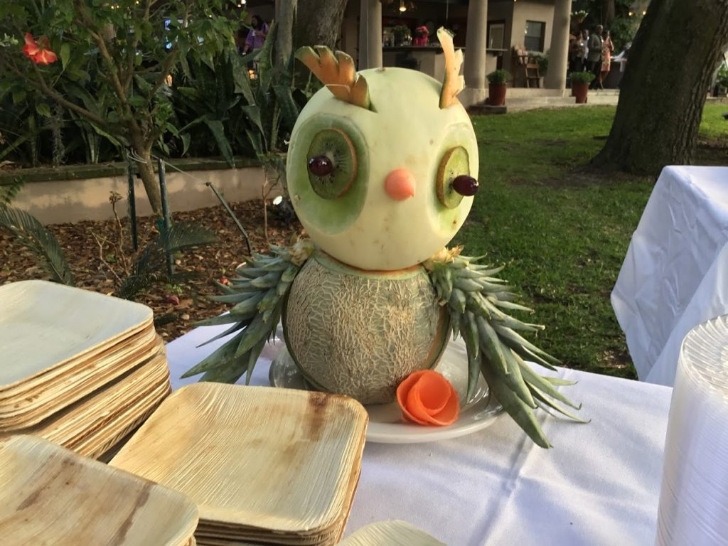 Island Flavors and Tings Gulfport Fl Catering Menu Fruit Centerpiece Animals
