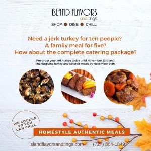 Thanksgiving Christmas Meals Jamaican Island American Food Gulfport FL St. Pete FL Island Flavors and Tings Order Now